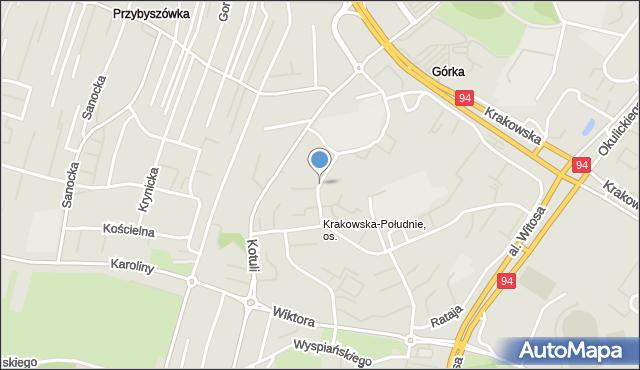 Rzeszów, Zbyszewskiego Wiktora, mapa Rzeszów