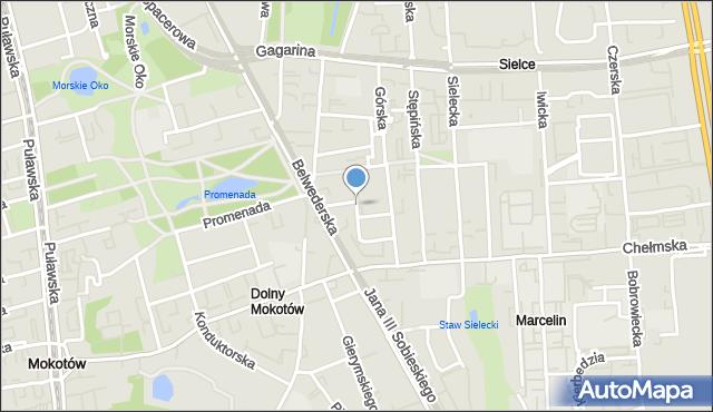 Warszawa, Zbierska, mapa Warszawy