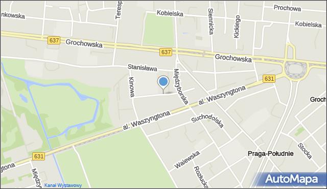 Warszawa, Zbaraska, mapa Warszawy