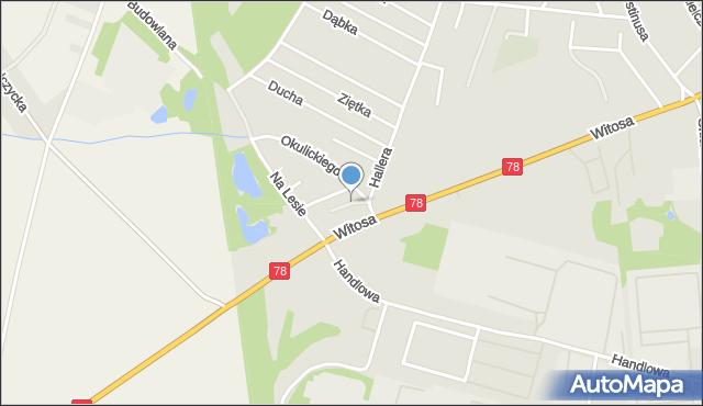 Zabrze, Zbrosławicka, mapa Zabrza