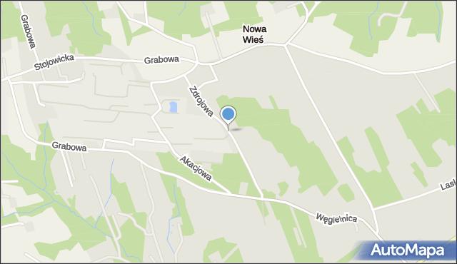 Dobczyce, Zdrojowa, mapa Dobczyce