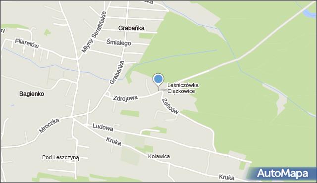 Jaworzno, Zdrojowa, mapa Jaworzno