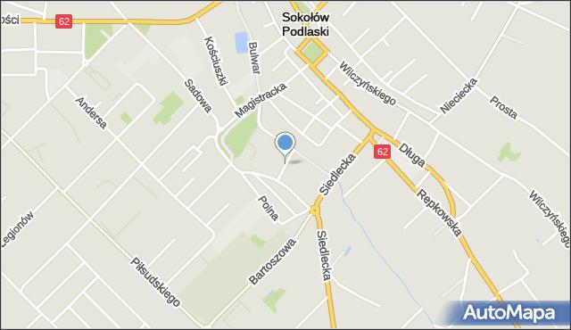 Sokołów Podlaski, Zdrojowa, mapa Sokołów Podlaski