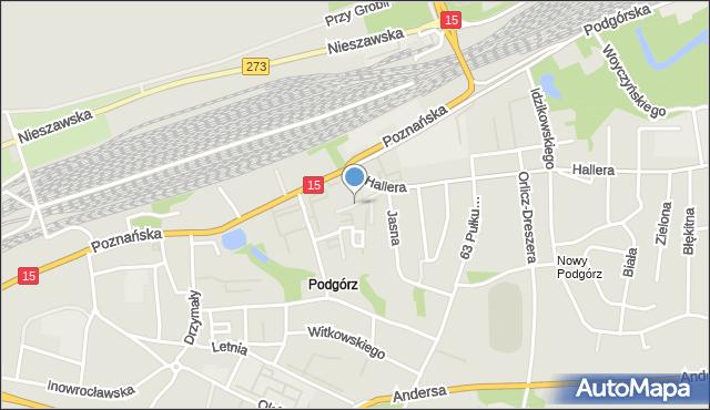 Toruń, Zdrójkowskiego Zbigniewa, mapa Torunia