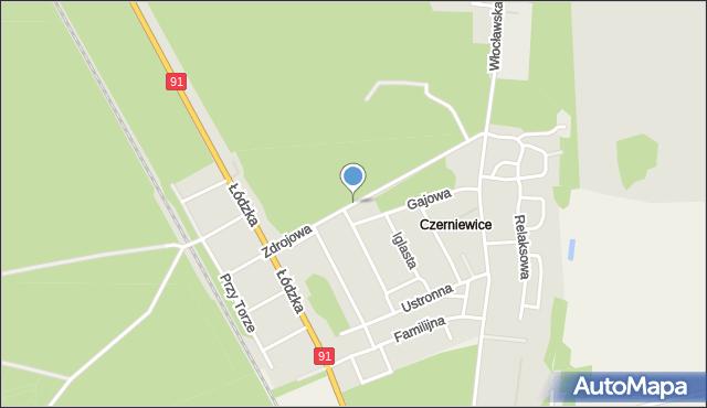 Toruń, Zdrojowa, mapa Torunia
