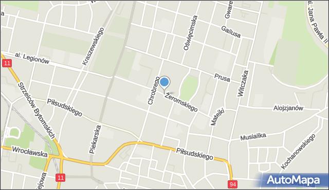 Bytom, Żeromskiego Stefana, mapa Bytomia