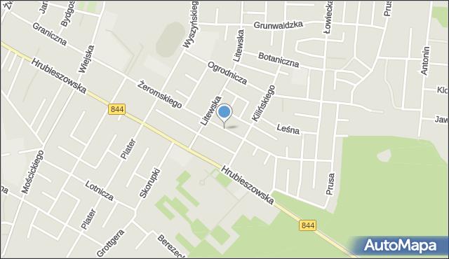 Chełm, Żeromskiego Stefana, mapa Chełma