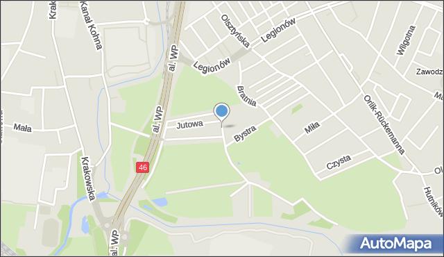 Częstochowa, Żelazna, mapa Częstochowy