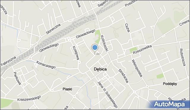 Dębica, Żeromskiego Stefana, mapa Dębicy