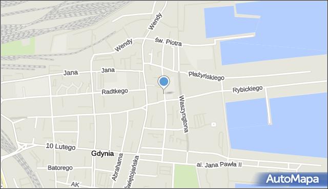 Gdynia, Żeromskiego Stefana, mapa Gdyni