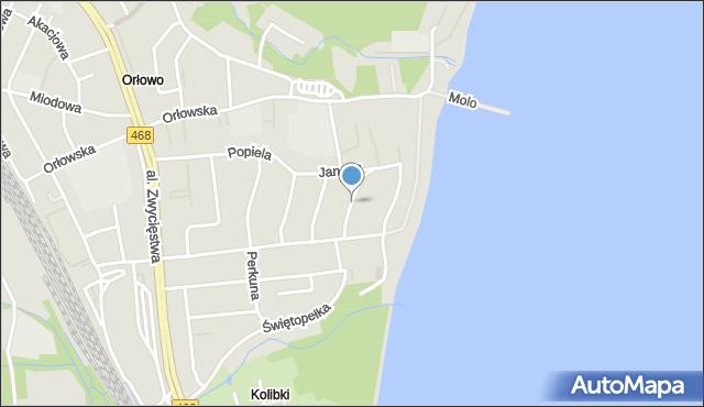 Gdynia, Zegarskiego Teofila, dr., mapa Gdyni