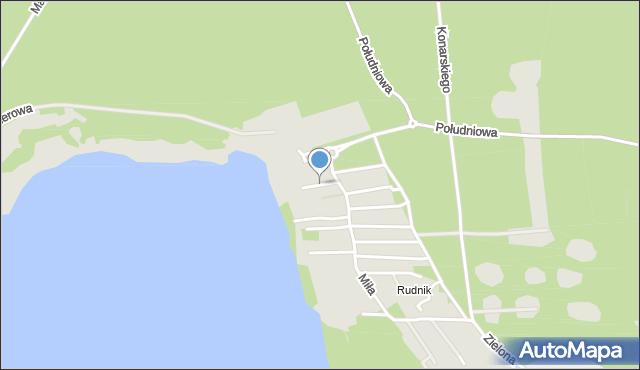 Grudziądz, Żeglarska, mapa Grudziądza