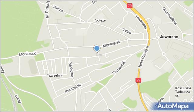 Jaworzno, Zegadłowicza Emila, mapa Jaworzno
