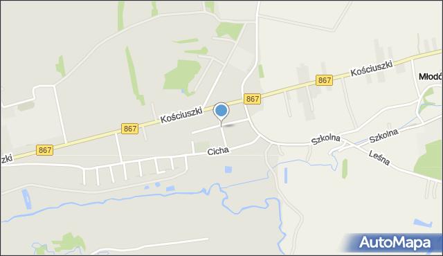 Lubaczów, Żelichówka, mapa Lubaczów