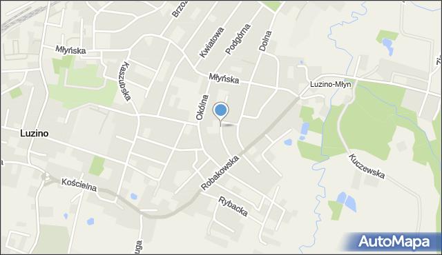 Luzino, Żeromskiego Stefana, mapa Luzino