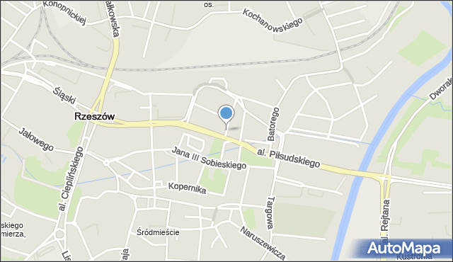 Rzeszów, Żeromskiego Stefana, mapa Rzeszów