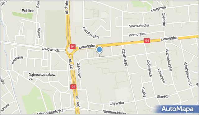 Rzeszów, Zenitowa, mapa Rzeszów
