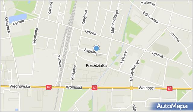 Sokołów Podlaski, Żeromskiego Stefana, mapa Sokołów Podlaski