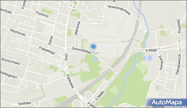 Sosnowiec, Żeromskiego Stefana, mapa Sosnowca