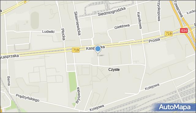 Warszawa, Zegadłowicza Emila, mapa Warszawy