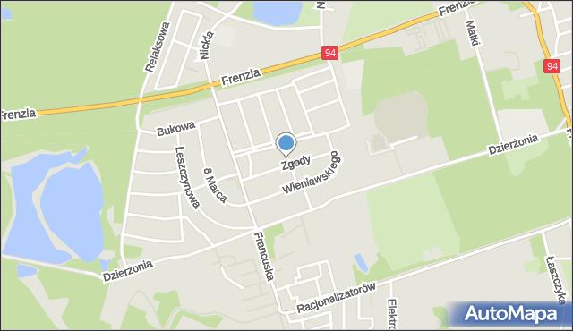 Bytom, Zgody, mapa Bytomia