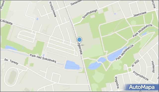 Łódź, Zgierska, mapa Łodzi