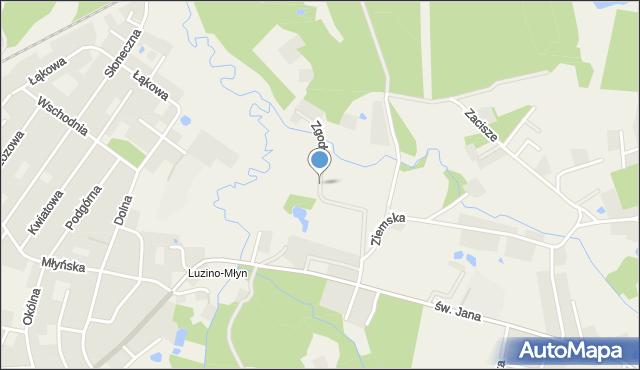 Luzino, Zgody, mapa Luzino