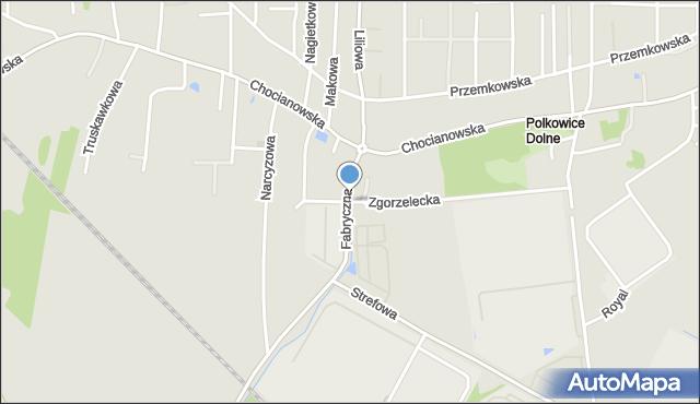 Polkowice, Zgorzelecka, mapa Polkowice