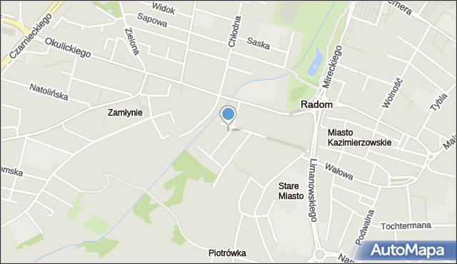 Radom, Zgodna, mapa Radomia