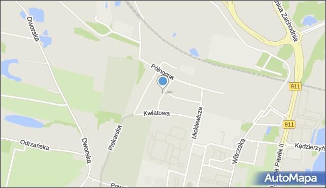 Bytom, Zielona, mapa Bytomia