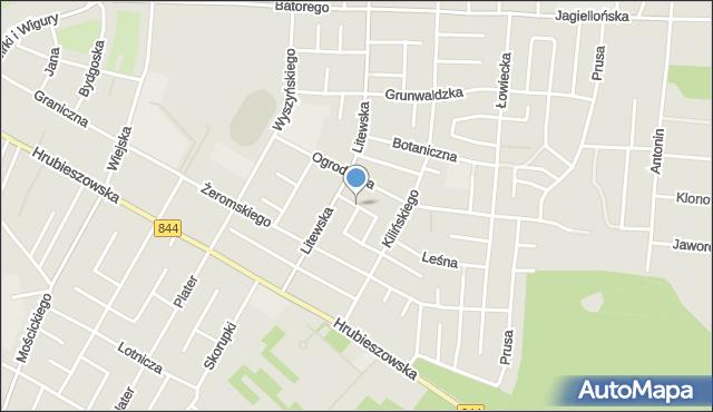 Chełm, Zimowa, mapa Chełma