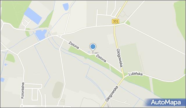 Chocianów, Zielona, mapa Chocianów