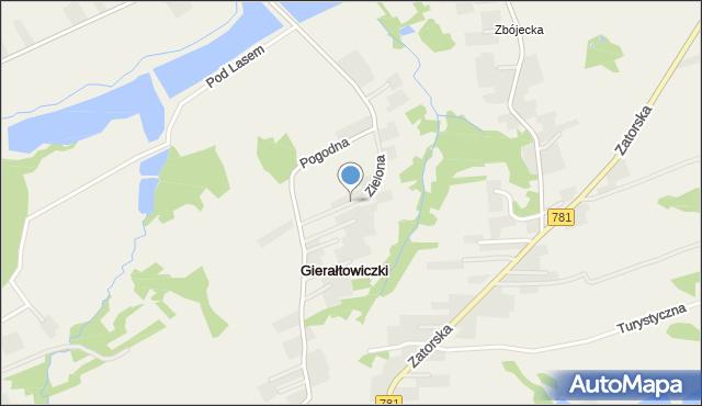 Gierałtowiczki, Zielona, mapa Gierałtowiczki