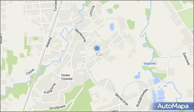 Gościcino, Zielona, mapa Gościcino