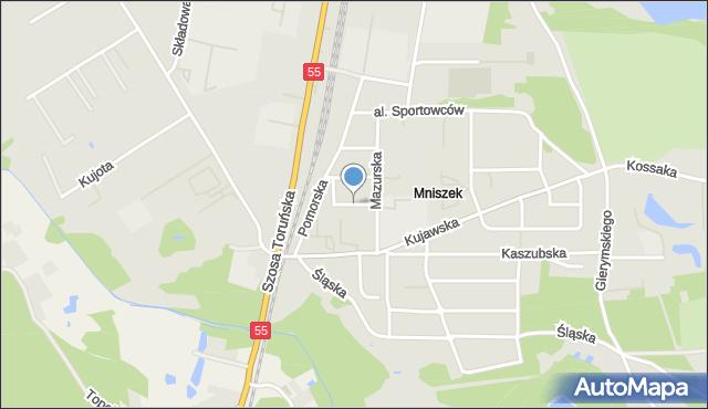 Grudziądz, Ziemi Chełmińskiej, mapa Grudziądza