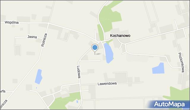 Kochanowo gmina Luzino, Zielona, mapa Kochanowo gmina Luzino