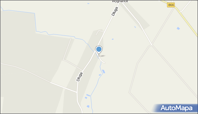Lisie Jamy gmina Lubaczów, Zielona, mapa Lisie Jamy gmina Lubaczów