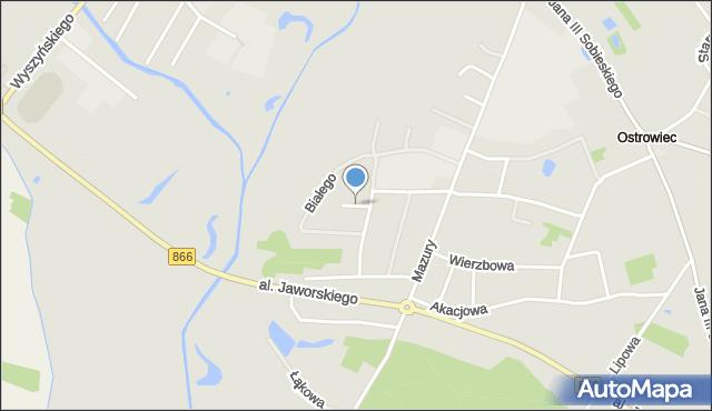 Lubaczów, Zibura Mikołaja, mapa Lubaczów