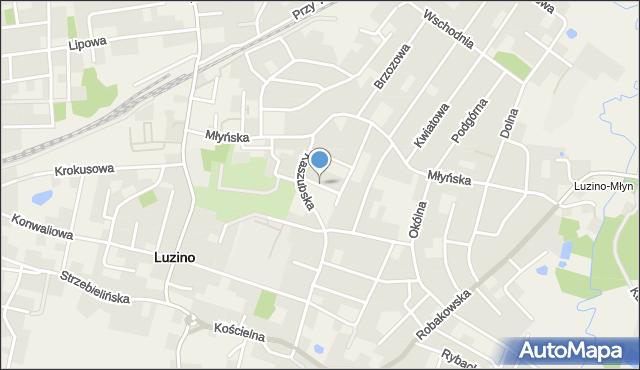 Luzino, Zielona, mapa Luzino
