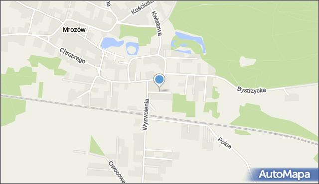 Mrozów, Zimowa, mapa Mrozów