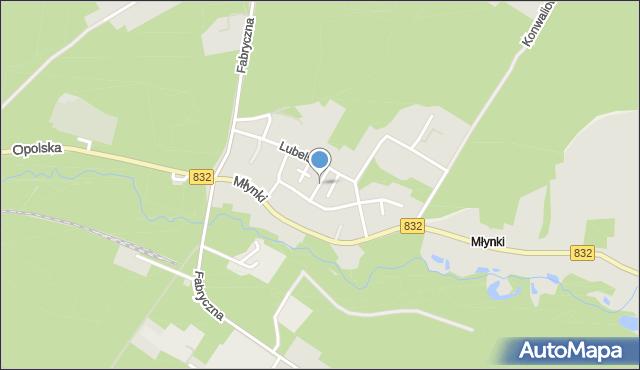 Poniatowa powiat opolski, Zielona, mapa Poniatowa powiat opolski