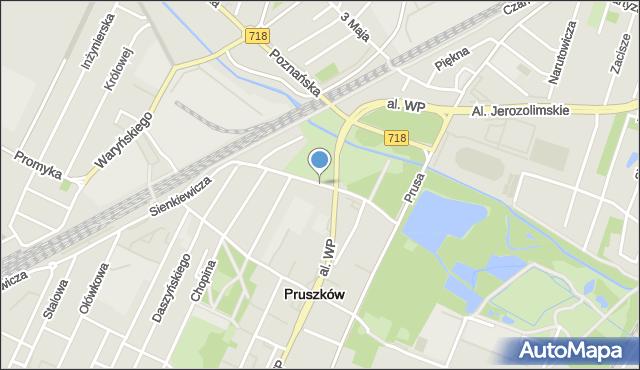 Pruszków, Zimińskiej-Sygietyńskiej Miry, mapa Pruszków