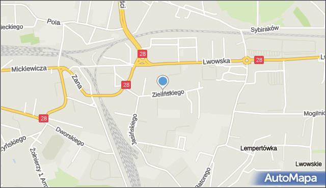 Przemyśl, Zielińskiego Zygmunta, mapa Przemyśla
