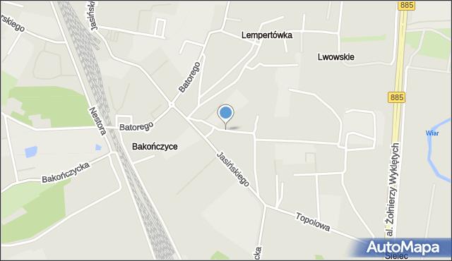 Przemyśl, Ziemiańskiego Józefa, ks., mapa Przemyśla