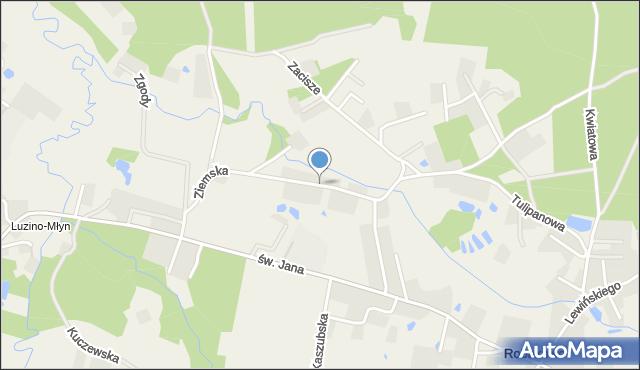 Robakowo gmina Luzino, Ziemska, mapa Robakowo gmina Luzino