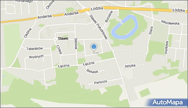Toruń, Zimorodka, mapa Torunia