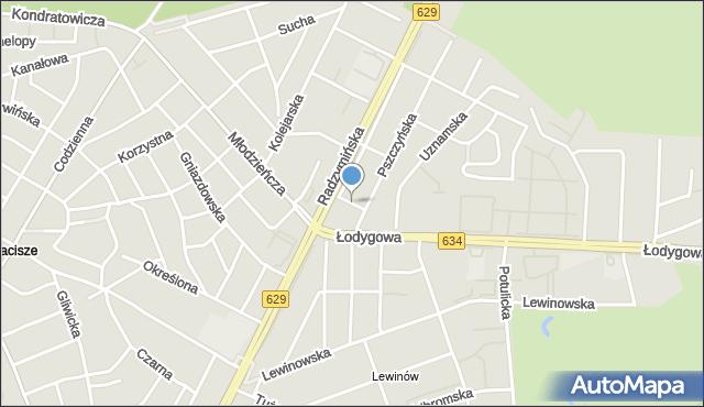 Warszawa, Ziemiańska, mapa Warszawy