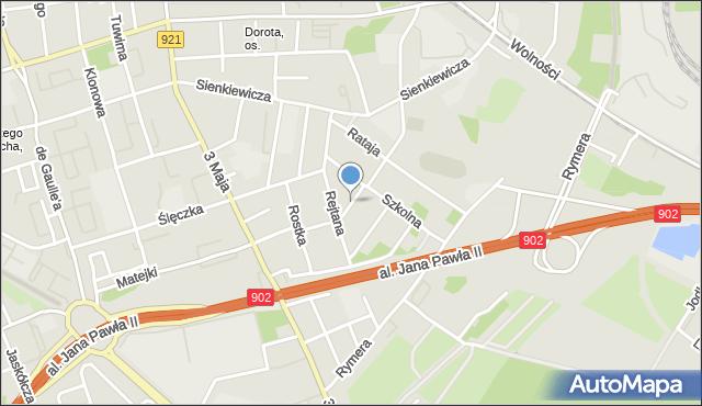 Zabrze, Zielińskiego Mikołaja, mapa Zabrza