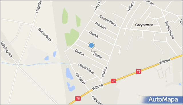Zabrze, Ziętka Jerzego, gen., mapa Zabrza