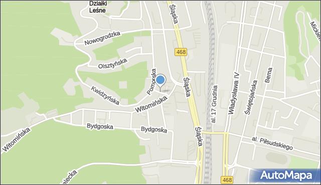 Gdynia, Zjazdowa, mapa Gdyni